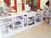 comptoir de r ception accueil et rangement meuble. Black Bedroom Furniture Sets. Home Design Ideas