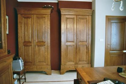 Armoire de bureau louis philippe en chêne meuble style bureau