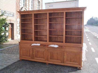 biblioth que sur mesure meuble marcelis luc. Black Bedroom Furniture Sets. Home Design Ideas