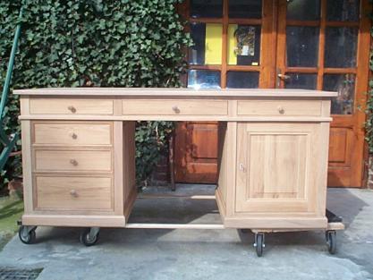 Bureau louis philippe en chêne bureau chene meuble marcelis luc