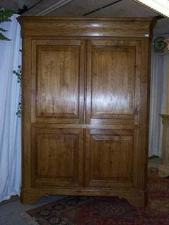 Coin haut tv louis philippe en ch ne armoire d 39 angle - Meuble salle de bain en coin ...