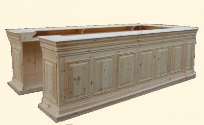 Comptoir bar en bois brut meuble marcelis luc - Fabrication d un bar en bois ...