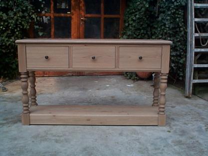 console sur mesure meuble marcelis luc. Black Bedroom Furniture Sets. Home Design Ideas