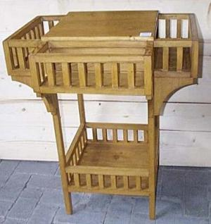 jardini re en pin sur mesure avec espaces de rangement. Black Bedroom Furniture Sets. Home Design Ideas