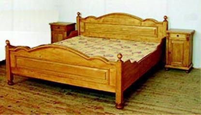 Lit en pin sur mesure 2 places lit 2 personnes meuble marcelis luc - Lit en pin 2 personnes ...