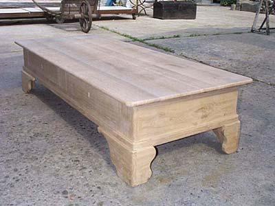 Table basse de salon louis philippe table bois brut meuble marcelis luc - Table basse louis philippe ...