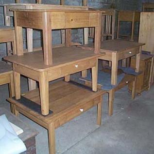 table basse en pin sur mesure 1 tiroir meuble marcelis luc. Black Bedroom Furniture Sets. Home Design Ideas