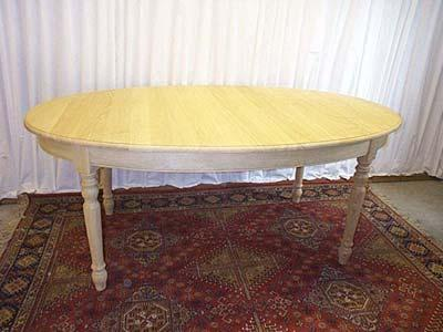Table ovale louis philippe table rallonges meuble for Table ovale avec rallonge chene massif