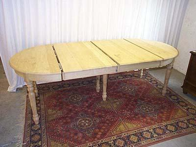 Table ronde louis philippe en ch ne avec ou sans for Table ronde 100 cm avec rallonge